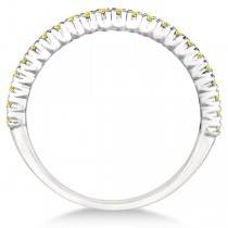 Half-Eternity Pave-Set Yellow Diamond Stacking Ring Palladium (0.25ct)