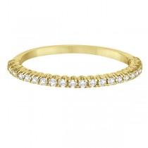 Half-Eternity Pave-Set Diamond Stacking Ring 14k Yellow Gold (0.25ct)
