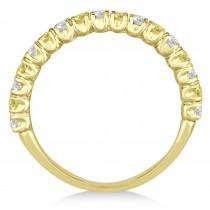 Yellow & White Diamond Wedding Band Anniversary Ring in 14k Yellow Gold (0.75ct)