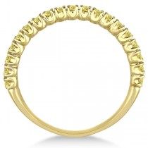 Half-Eternity Pave Thin Yellow Diamond Ring 14k Yellow Gold (0.50ct)|escape