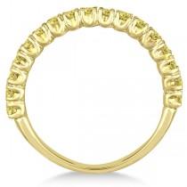 Half-Eternity Pave Yellow Diamond Stacking Ring 14k Yellow Gold (0.75ct)