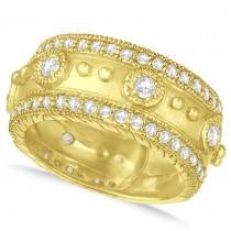 Diamond Byzantine Antique Anniversary Band 14k Yellow Gold (1.06ct)
