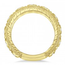 Diamond Byzantine Vintage Anniversary Band 14k Yellow Gold (1.15ct)