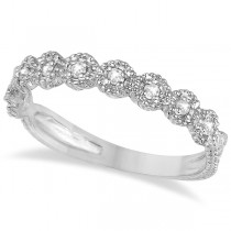Diamond Stackable Ring Band in 14k White Gold (0.20 ctw)