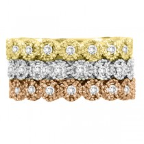 Diamond Stackable Ring Band in 14k Yellow Gold (0.20 ctw)