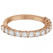 Half Eternity Round Cut Diamond Ring Band 14k Rose Gold (1.35ct)