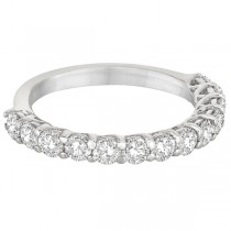 Half Eternity Round Cut Diamond Ring Band 14k White Gold (1.35ct)