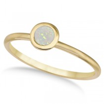 Opal Bezel-Set Solitaire Ring in 14k Yellow Gold (0.65ct)