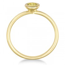 Fancy Yellow Canary Diamond Bezel-Set Solitaire Ring 14k Y. Gold (0.50ct)|escape