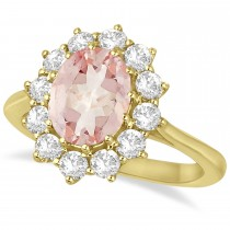 Oval Morganite and Diamond Ring 14k Yellow Gold (3.60ctw)