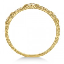 Pave Set Vintage Stacking Diamond Ring Band 14k Yellow Gold (0.15ct)|escape