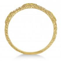 Vintage Stacking Diamond & Yellow Diamond Ring Band 14k Yellow Gold (0.15ct)