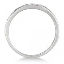 Channel-Set Diamond Anniversary Ring Band Palladium (1.05ct)