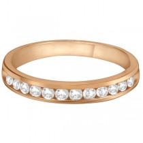 Channel-Set Diamond Anniversary Ring Band 14k Rose Gold (0.40ct)