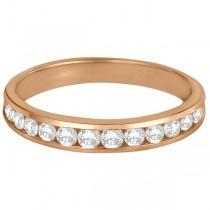 Channel-Set Diamond Anniversary Ring Band 14k Rose Gold (0.50ct)