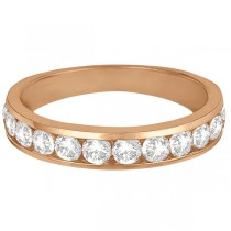 Channel-Set Diamond Anniversary Ring Band 14k Rose Gold (1.05ct)