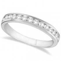 Channel-Set Diamond Anniversary Ring Band 14k White Gold (0.40ct)