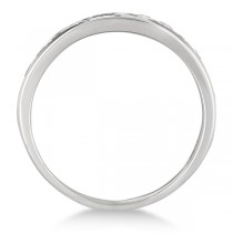 Channel-Set Round Diamond Ring Band 14k White Gold (1.25ct)