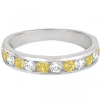 White & Yellow Canary Channel-Set Diamond Ring 14k White Gold (1.05ct)|escape