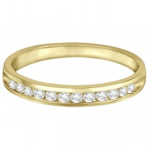 Channel-Set Diamond Anniversary Ring Band 14k Yellow Gold (0.25ct)