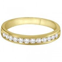 Channel-Set Diamond Anniversary Ring Band 14k Yellow Gold (0.40ct)