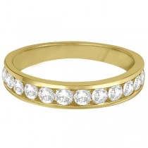 Channel-Set Diamond Anniversary Ring Band 14k Yellow Gold (0.75ct)