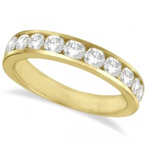 Channel-Set Round Diamond Ring Band 14k Yellow Gold (1.25ct)