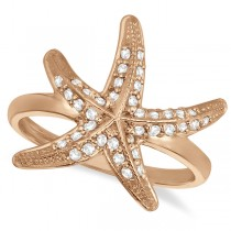 Diamond Starfish Ring 14k Rose Gold (0.34ct)
