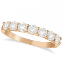 Diamond Seven Stone Wedding Band 14k Rose Gold (1.00ct)
