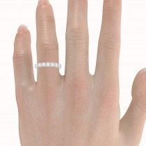 Diamond Seven Stone Wedding Band 14k White Gold (1.00ct)