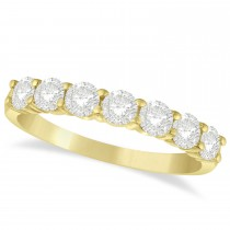 Diamond Seven Stone Wedding Band 14k Yellow Gold (1.00ct)