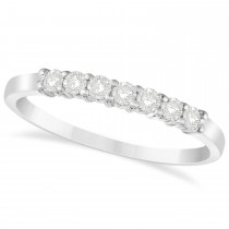 Diamond Seven Stone Wedding Band 14k White Gold (0.26ct)