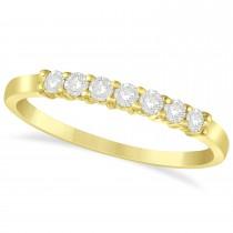Diamond Seven Stone Wedding Band 14k Yellow Gold (0.26ct)