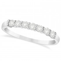 Diamond Seven Stone Wedding Band 14k White Gold (0.34ct)