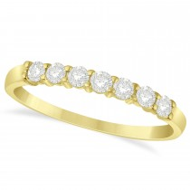 Diamond Seven Stone Wedding Band 14k Yellow Gold (0.34ct)