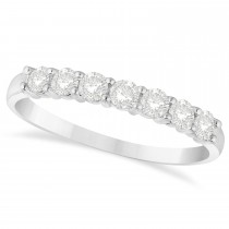 Diamond Seven Stone Wedding Band 14k White Gold (0.50ct)
