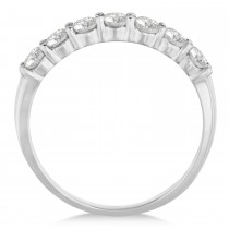 Diamond Seven Stone Wedding Band 14k White Gold (0.75ct)