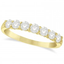 Diamond Seven Stone Wedding Band 14k Yellow Gold (0.75ct)