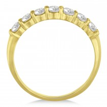 Diamond Seven Stone Wedding Band 14k Yellow Gold (0.75ct)