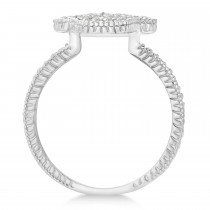 Diamond Hamsa Ring 14k White Gold (0.41ct)