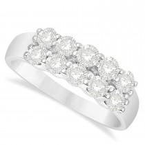Double Row Diamond Ring 14k White Gold (1.00ct)