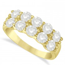 Double Row Diamond Ring 14k Yellow Gold (2.00ct)