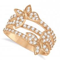 Diamond Butterfly Ring 14k Rose Gold (0.75ct)