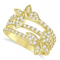 Diamond Butterfly Ring 14k Yellow Gold (0.75ct)