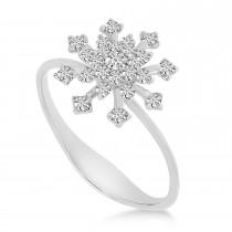 Diamond Snowflake Ring 14K White Gold (0.33ct)