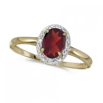 Garnet and Diamond Cocktail Ring in 14K Yellow Gold (0.95ct)