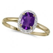 Amethyst and Diamond Cocktail Ring in 14K Yellow Gold (0.80ct)