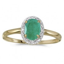 Emerald and Diamond Cocktail Ring in 14K Yellow Gold (0.75ct)