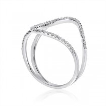 Interwoven Diamond Fashion Ring 14k White Gold 0.25 ct