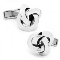 Love Knot Cufflinks Crafted in Sterling Silver